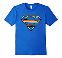 Dc Comics Superman Retro Logo Shirts Royal Blue