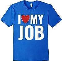 I Love My Job Entrepreneur Work T-shirt Royal Blue