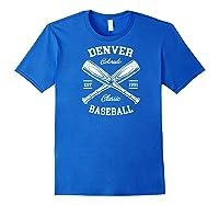 Denver Baseball, Classic Vintage Colorado Retro Fans Gift Baseball Shirts Royal Blue