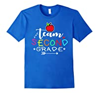 Team 2nd Second Grade Back To School Tea Gift Shirts Royal Blue