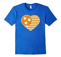 Tennessee Flag Shirt Vintage Distressed Usa Heart T Shirt Royal Blue