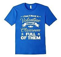 Tea Valentines Day Tshirt Funny Class School Gift Unisex Royal Blue