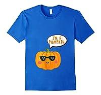 I'm A Pumpkin Costume Cosplay Fruit Halloween Shirts Royal Blue