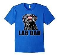 Chocolate Labrador Hashtag Lab Dad Tshirt Father Day Gifts Royal Blue