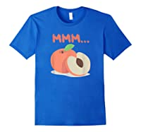 Mmm Peach Impeach Trump Political Protest Tee Activist Gift Shirts Royal Blue