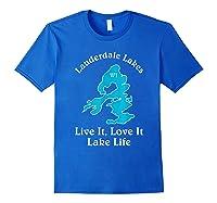 Lauderdale Lakes Wi Lake Life T-shirt Wisconsin Fans Tee Royal Blue