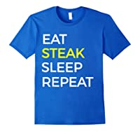 Beef Steak, Meat Bbq Gift Shirts Royal Blue