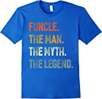 Funcle The Man The Myth The Legend Uncle Father Day Gift T-shirt Royal Blue