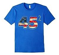 Donald Trump America Re Election T Shirt Gift Royal Blue