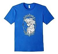 Frozen Elsa Sketch Portrait Snowflakes Shirts Royal Blue