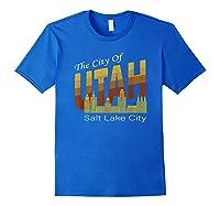 City Of Utah Shirt Salt Lake City Vintage State Gift T Shirt Royal Blue