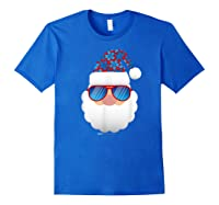 Cool Santa Emoticon In Sunglasses Christmas In July T Shirt Royal Blue