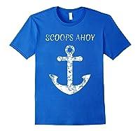 Scoops Ahoy Ship Old Anchor Shirts Royal Blue
