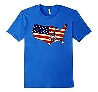 Gadsden Flag Snake Shirt -on Don't On Me Tread T-shirt T-shirt Royal Blue