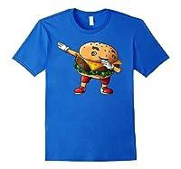 Cool Dabbing Burger Funny Street Dancer Hamburger Lover Gift T Shirt Royal Blue