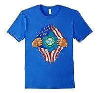 South Dakota Roots Inside State Flag American Proud Shirts Royal Blue