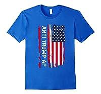 Anti Trump Impeach The 45th President T Shirt Royal Blue