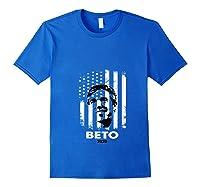 Beto O Rourke Usa Flag President Retro Vintage Orourke Gift T Shirt Royal Blue