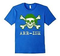 Funny Arrish Sugar Skull St Saint Patricks Day Shirts Gift Royal Blue