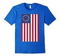 Patriotic 1776 American Betsy Ross Flag T-shirt Royal Blue