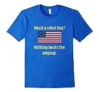 The Original Rebel Colonial Flag T Shirt Royal Blue