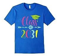Class Of 2031 Grow With Me Kindergarten Graduate Gift T-shirt Royal Blue