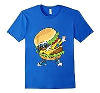 Cool Dabbing Burger Funny Street Dancer Hamburger Lover Gift Tank Top Shirts Royal Blue