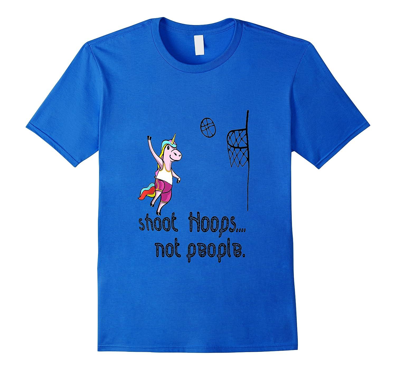 Shoot Hoops Not People Funny Unicorn Back To School Tank Top Shirts Men Short Sleeve