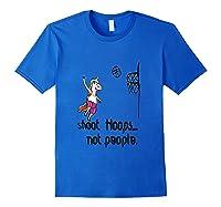 Shoot Hoops Not People Funny Unicorn Back To School Tank Top Shirts Royal Blue