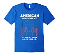 American Wealthcare Act Impeach Trump T Shirt Royal Blue
