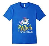 Unicorn Pony This Witch Is Spook Tacular Cute Girls Kawaii Shirts Royal Blue