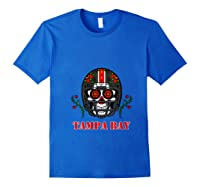 Tampa Bay Football Helmet Sugar Skull Day Of The Dead T Shirt Royal Blue