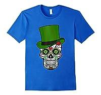 Sugar Skull St Patrick S Day T Shirt Saint Patty S Day Gift Royal Blue