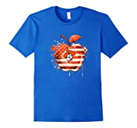 Oklahoma State Cow Nation Flag T Shirt Apparel Royal Blue