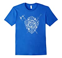 Dragons Dnd Fighter Dungeons Icon Art Tabletop Birthday Gift Shirts Royal Blue