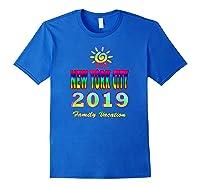 New York City Family Vacation 2019 Spiral Sun Rainbow T Shirt Royal Blue