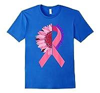 Sunflower Breast Cancer Awareness Month Gift T Shirt Royal Blue