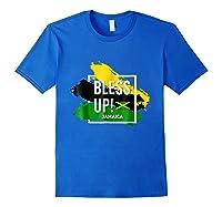 Bless Up N Pride Yaadie T Shirt Walk Good Everyday Royal Blue