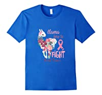 Floral Breast Cancer Awareness Month Here To Fight Tank Top Shirts Royal Blue