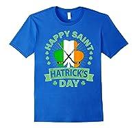 St Patrick S Day Hockey T Shirt Irish Saint Hatrick S Day 01 Royal Blue