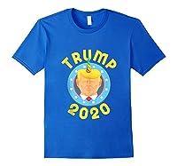 Funny Unicrontrump 2020 Election Usa Flag Republican Gift Tank Top Shirts Royal Blue