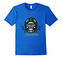 Philadelphia Football Helmet Sugar Skull Day Of The Dead Tank Top Shirts Royal Blue