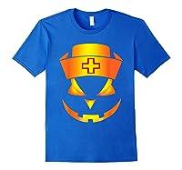 Scary Halloween T Shirt For Nurses Royal Blue