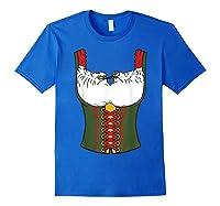 Oktoberfest Dirndl Beer Festival In Germany Gift Shirts Royal Blue
