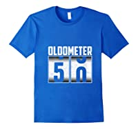 Oldometer 50 50th Birthday 50 Years Old Gifts Shirts Royal Blue