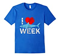 I Wait All Year For This Week T-shirt Funny Shark Tee Royal Blue
