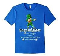 Saint Paddy S Dabbing Shenanigator St Patrick S Day T Shirt Royal Blue