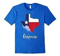 Grapevine Texas T Shirt Lone Star State Texan Gift Royal Blue