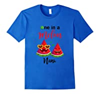 One In A Melon Nani Watermelon Summer Gifts Shirts Royal Blue