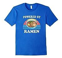 Powered By Ra Funny Retro Ra Noodles Gift Shirts Royal Blue